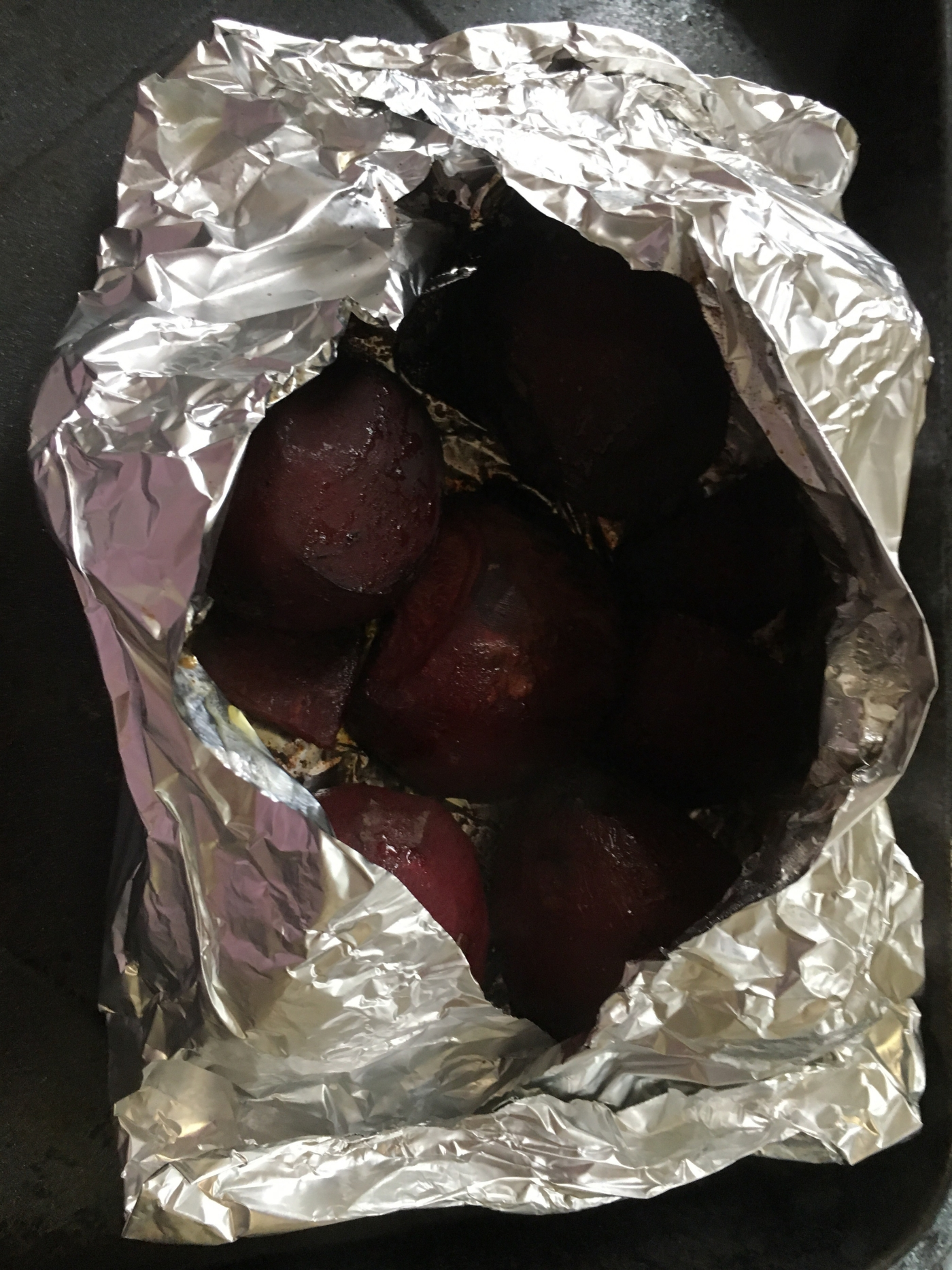 Picture of Easy Roasted Beets Out of the Oven