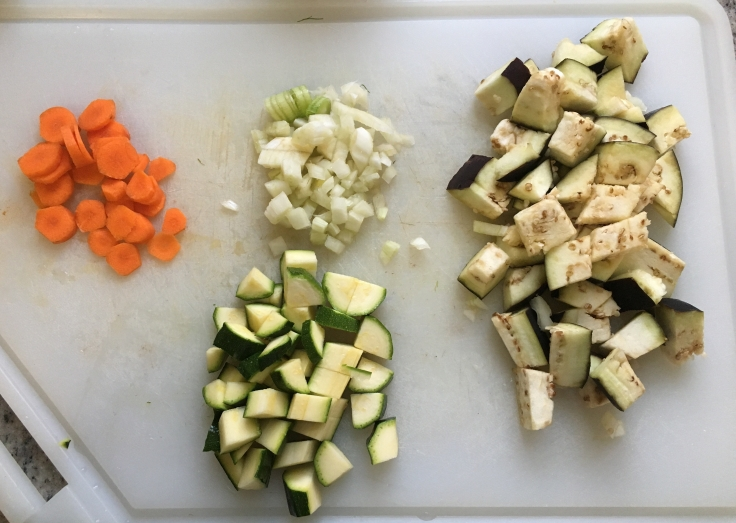 Fennel, eggplant, zucchini & carrots (for my oldest).